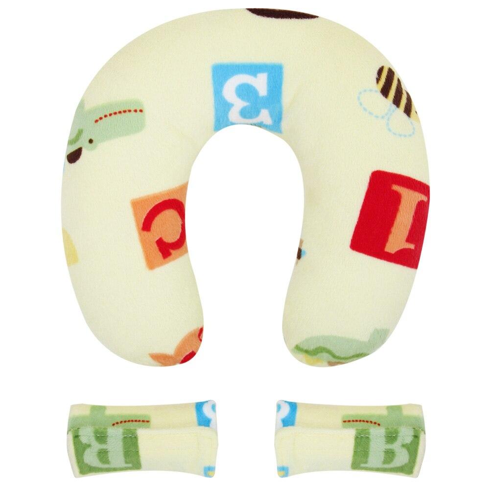 Baby Pillow U Shape Headrest Cartoon Design Kids Baby Anti Roll Pillow Massager U-Shape Neck Pillow Travel Toys For Kids Care