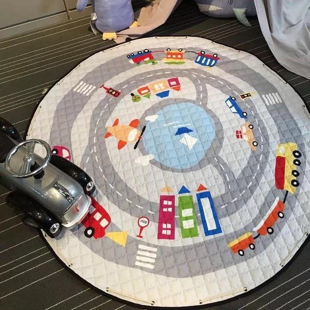 2017 Diâmetro 150 cm Multifunction Quente Encantador Dos Desenhos Animados Tapetes de Jogo Do Bebê Tapete Crawling Desenvolvimento Como Brinquedos Saco de Buggy