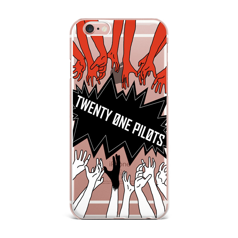 HTB1SUE2QFXXXXbEXXXXq6xXFXXXN - Twenty One Pilots Soft TPU Transparent Silicone Case Cover For iPhone 7 7 Plus 5 5S 5C SE 6 6S Plus PTC 202