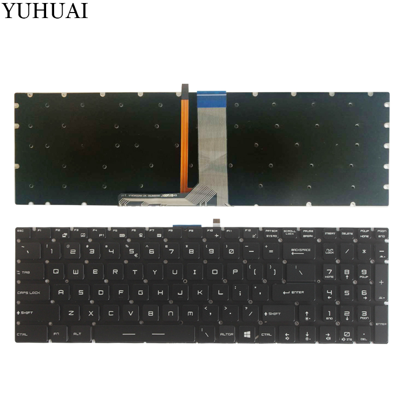 NEW US laptop keyboard For MSI GE63 GE73 GE63VR GE73VR US keyboard With backlight