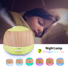 500ml Aroma Essential Oil Diffuser Ultrasonic Air Humidifier with Wood Grain 7 Color Changing LED Lights for Office Home все цены