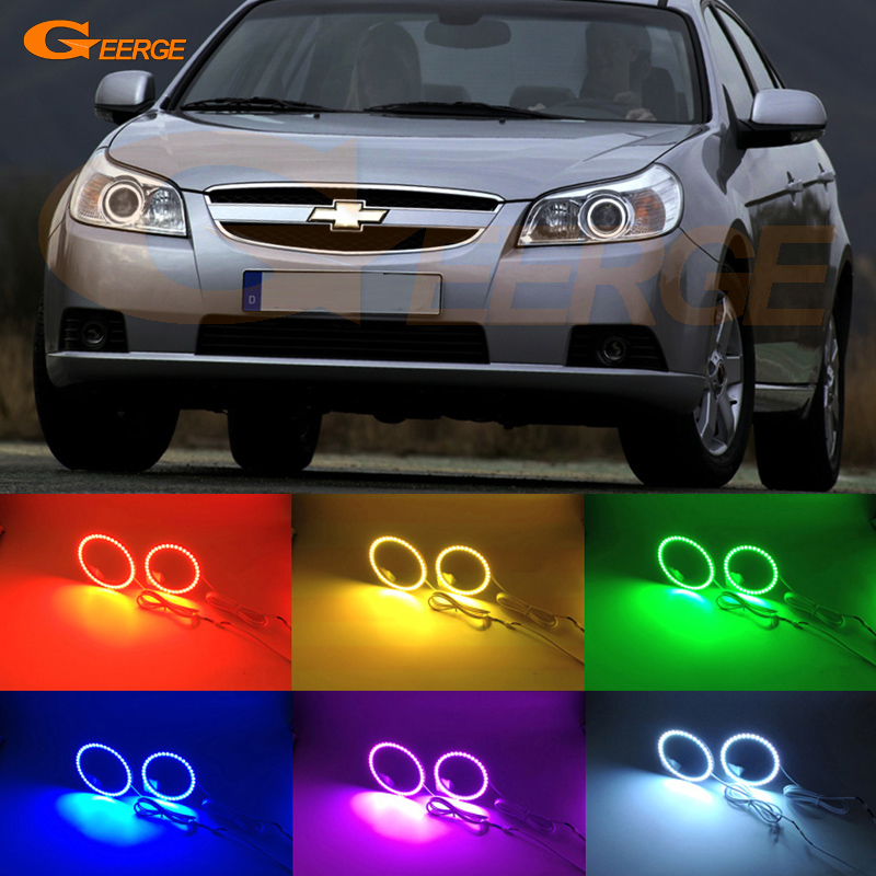 For Chevrolet Epica 2007 2008 2009 2010 2011 2012 2013 Excellent Angel Eyes Multi-Color Ultra bright RGB LED Angel Eyes kit