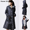 New HOT  Fashion Korean adults cute raincoat with Dots windbreaker paragraph Free Shipping Wholesale