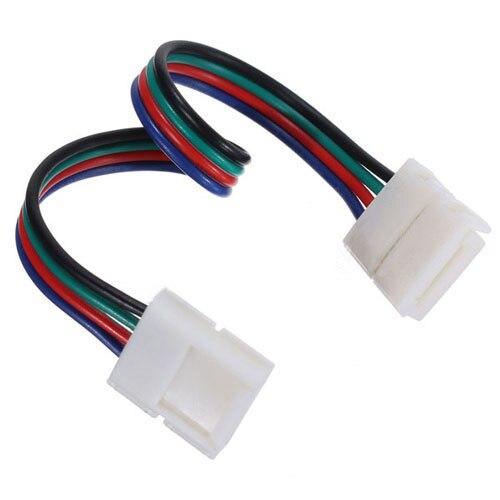 20X RGB 3528 5050 LED STRIP LIGHT ADAPTER DC BOLT CONNECTORS TRANSFORMER 4 Pin Connector (10Mm RGB) 5050 led light strip 10mm connectors white black red 2 pcs