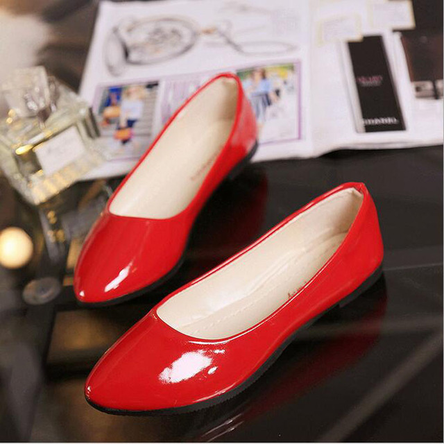 2016 summer style new fashion candy color women flat shoes women's PU Leather flats woman casual ballet princess loafers