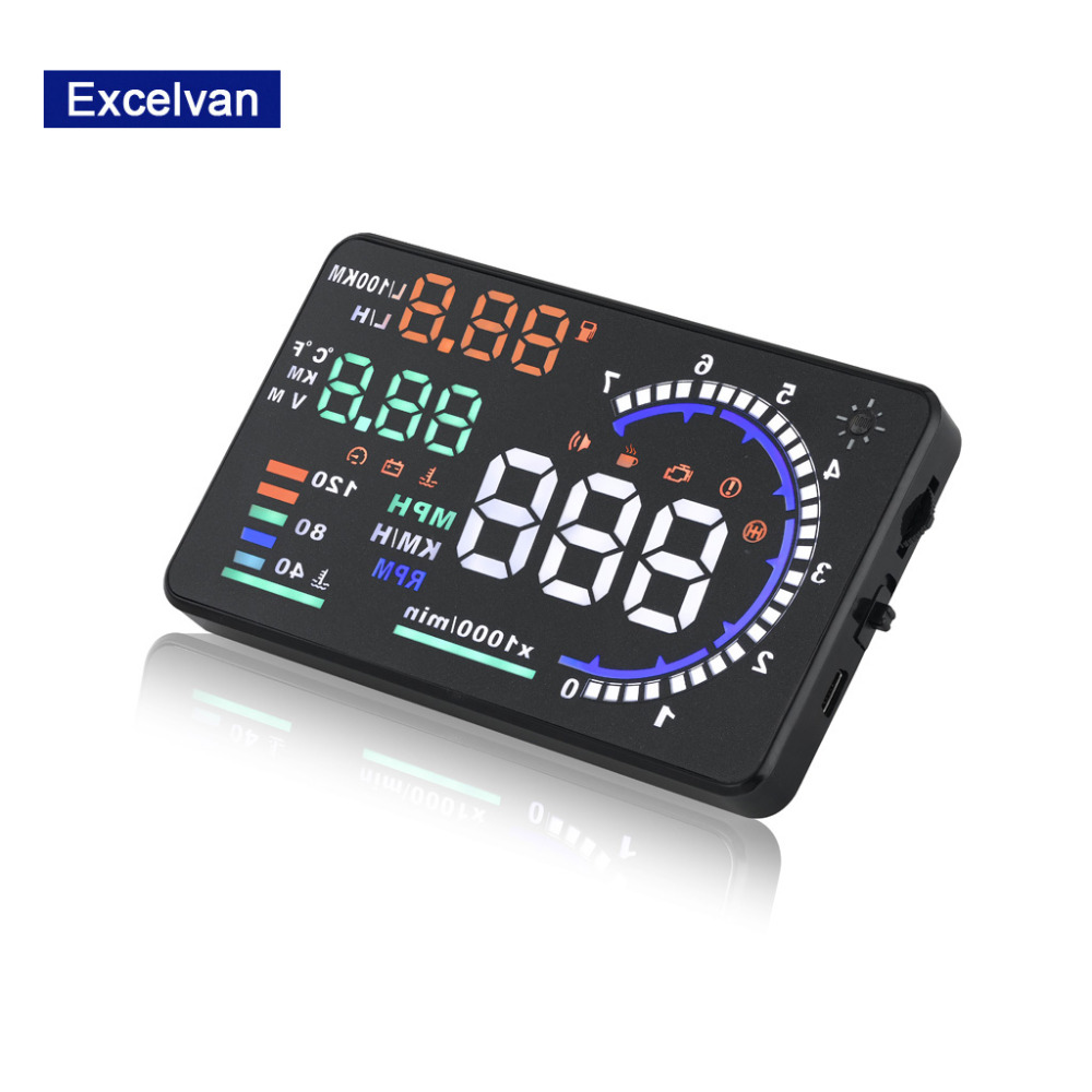 A8 5.5inch Car HUD Head Display con OBD2 Interface Plug