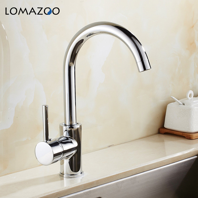 LOMAZOO Kitchen Faucet Bathroom Sink Faucet  Waterfall Faucet Single Handle Brass Rotate mixer dual sink rotationLOMAZOO Kitchen Faucet Bathroom Sink Faucet  Waterfall Faucet Single Handle Brass Rotate mixer dual sink rotation