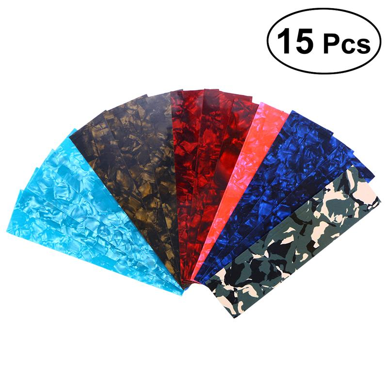 15pcs DIY Guitar Pick Punch Sheets Musicians Recommended Light Medium and Heavy Celluloid Guitar Pick Strips пароочиститель ranking and gifted musicians