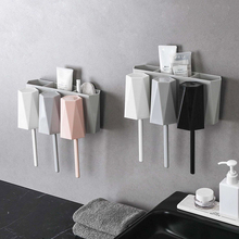 050 Creative Bathroom Wall-mounted Toothbrush Holder Toothpaste Rack Hanging Cup 25.5*11.5*12cm