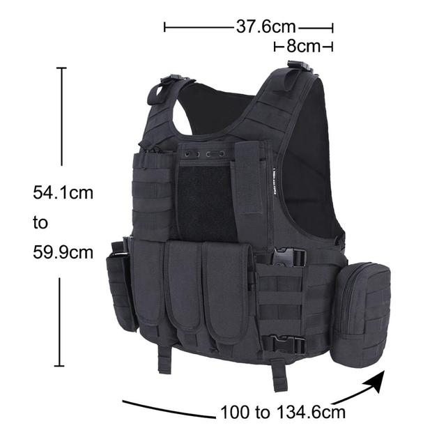 MGFLASHFORCE Airsoft Tactical Vest Plate Carrier Swat Fishing Hunting Military Army Armor Police Molle Vest 4