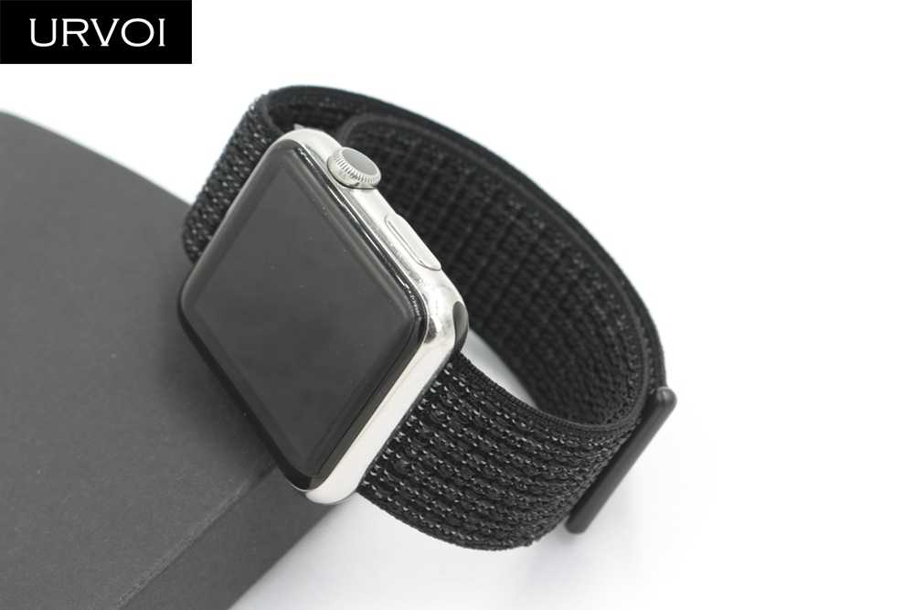 online store 4e9e0 c2b39 URVOI 2019 Sport loop for apple watch series 4 3 2 1band reflective strap  for iWatch band double-layer HOOk&LOOP Pride edition