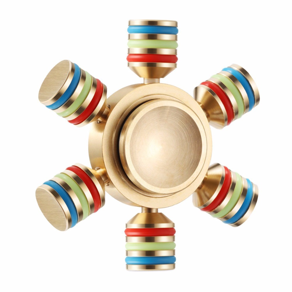 Rainbow Fidget Spinner Finger Spinner Hand Spinner Brass Spiner 6 Side Metallic Fidget Spinner Anxiety and Stress Reliever Toy туфли зебра цвет синий