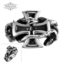 Cross Design Ring,Casual Style Silver Plated Fashion Jewelry For Men Dress Accessories,TIF GMYR112