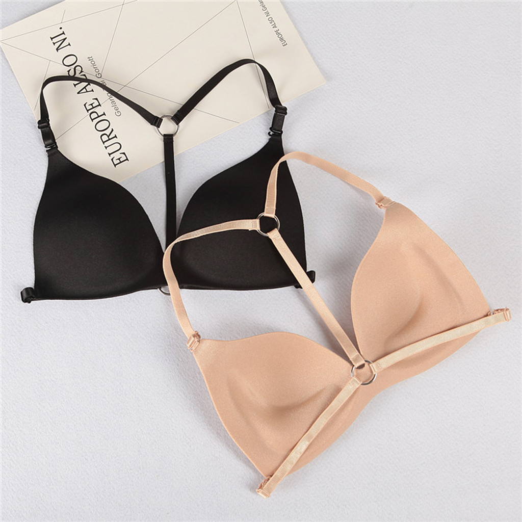 Women Sexy Wireless Bra Top Ropa Interior Femenina Sujetadores <font><b>Staniki</b></font> <font><b>Damskie</b></font> Push Up Bralette Dantelli Sutyen Gift for Lover image