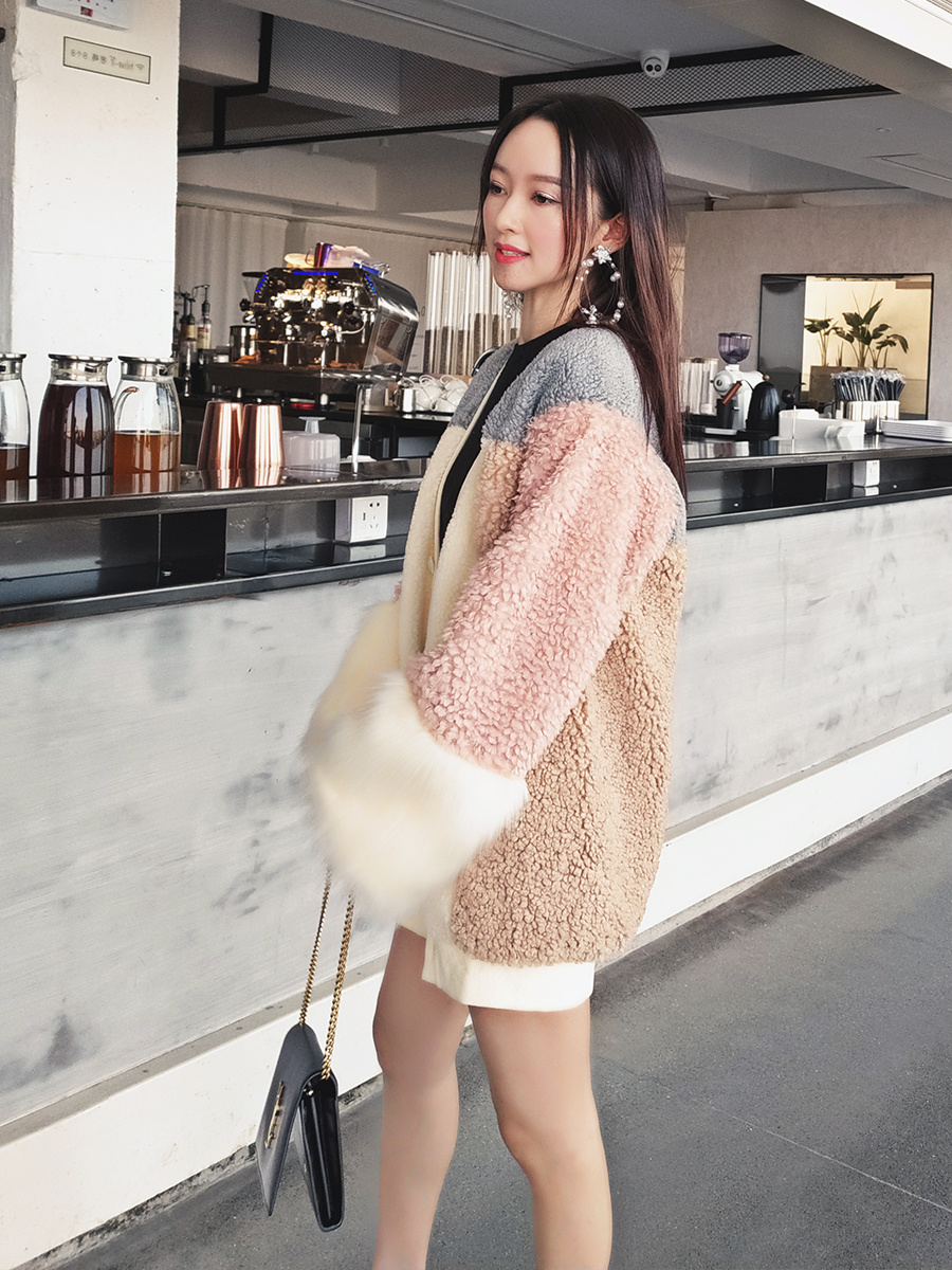 Women Sweater 2019 Autumn Winter New High Fashion Midi Long Sweater Knit Cardigan Colorful Matching Loose Female Lamb Coat in Cardigans from Women 39 s Clothing