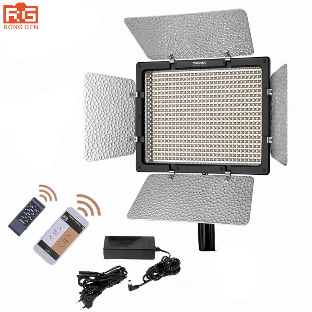 YONGNUO YN600L II LED Video Light Panel 3200 5500K AC Power Adapter Wireless Bluetooth 2 4G
