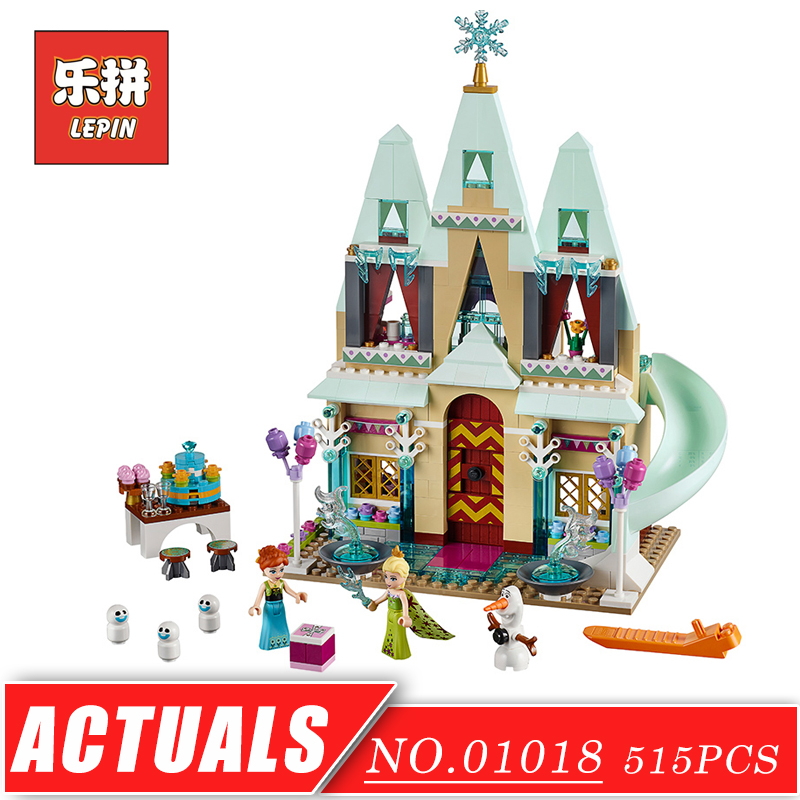 LEPIN 01018 Girl Series Enchanted Castle Princess DIY Set Doll House Model Building Kits Blocks Bricks Children Toys Christmas 472pcs set banbao princess series castle building blocks girl friends favorite scene simulation educational assemble toys