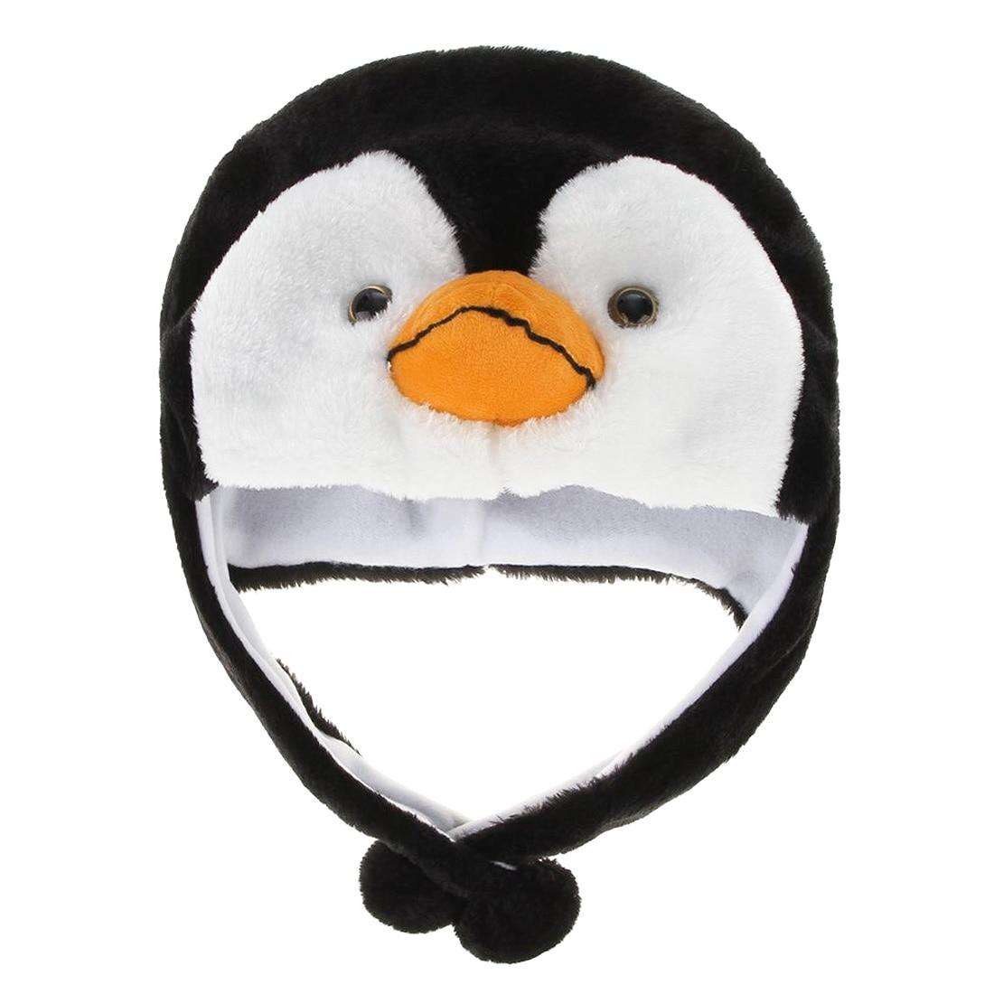 1 Pcs Cartoon Tier Pinguin Maskottchen Plüsch Warme Mütze Hut Wärmer Neue Pinguin Ohrenschützer
