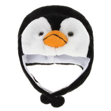 New Cartoon Animal Penguin Mascot Plush Warm Cap Hat Warmer Penguin earmuffs