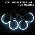 CCFL Angel Eye Halo Anillos de Juego Fit Para Mazda 3 M3 04-08 alta Calidad CCFL Angel Eyes Anillos Del Ojo Del Ángel Para El Mazda3 En Forma Directa anillo