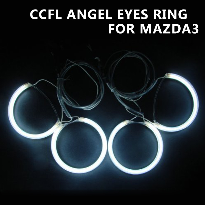 CCFL Angel Eye Halo Rings Kit Fit For Mazda 3 M3 04-08 Mazda3 Direct Eyes Ring