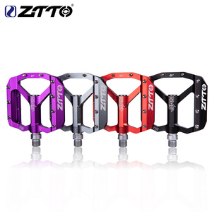 Image 1 - ZTTO MTB Bearing Aluminum Alloy Flat Pedal Bicycle Good Grip Lightweight 9/16 Pedals big For Gravel bike Enduro Downhill JT01