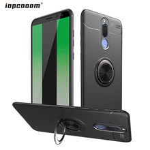 For Huawei Nova 2i Case Shockproof Metal Ring Holder Silicone Phone Cover for mate 10 lite