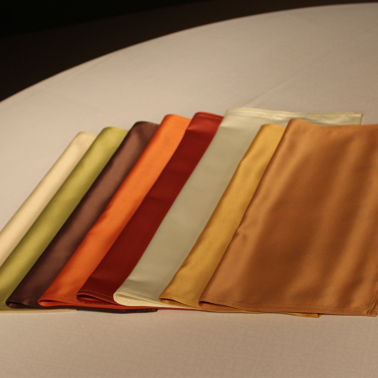 Upscale hotel napkins, European and American fashion emulation silk restaurant dinner cloth, Table napkin wholesale