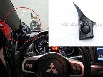 자동차 액세서리 탄소 섬유 52mm/60mm a 필러 단일 게이지 포드 맞는 2008-2012 에볼루션 x evo 10 인테리어 트림