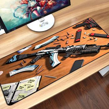 CS przejść duża podkładka pod mysz do gier blokada podkładka pod AK47 M4A1 AWP pistolet mysz do gier mata do laptop klawiatura podkład na biurko Gamer podkładka pod mysz tanie i dobre opinie SOVAWIN RUBBER SH-SBD Zdjęcie