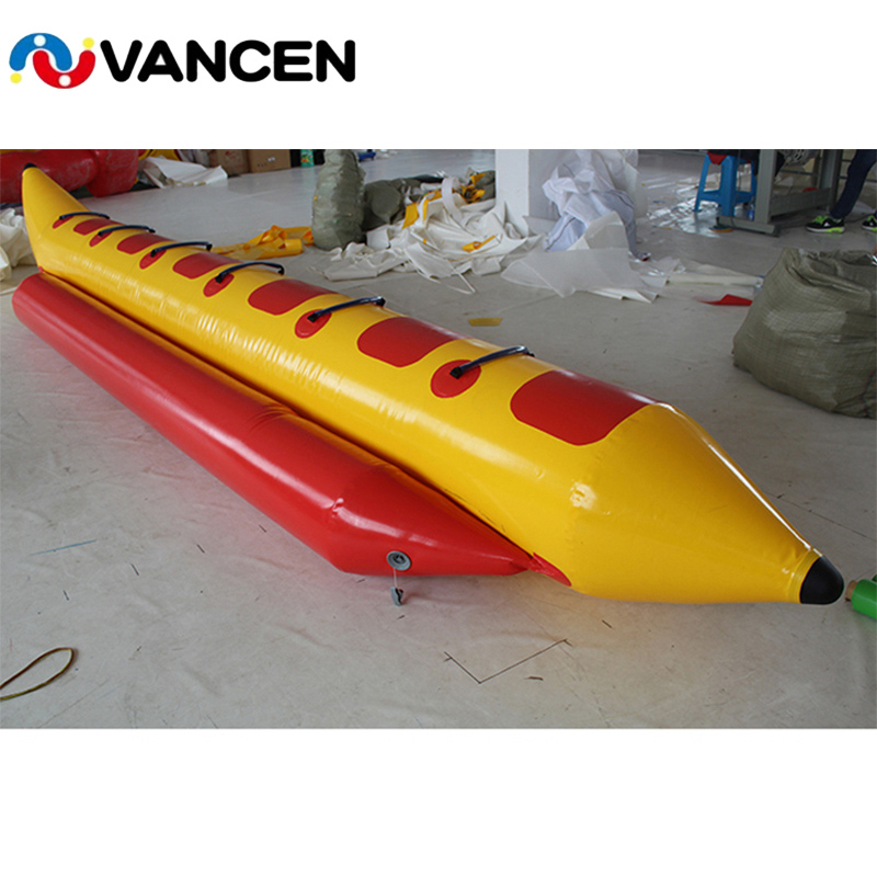 Single Tube Inflatable Banana Boat Flying Fish Boat Comercial Single Tube 6 Seaters Water Floating Toys For Adults