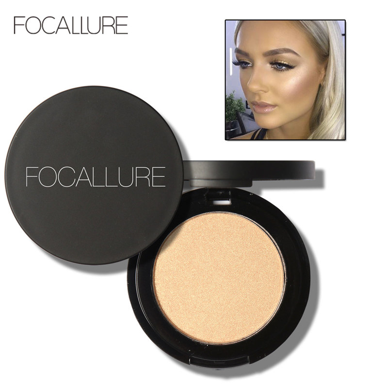 FOCALLURE Makeup Bronzer Pemutih Wajah Kontur Bubuk Waterproof Make Up Highlighter Bronzer Shimmer