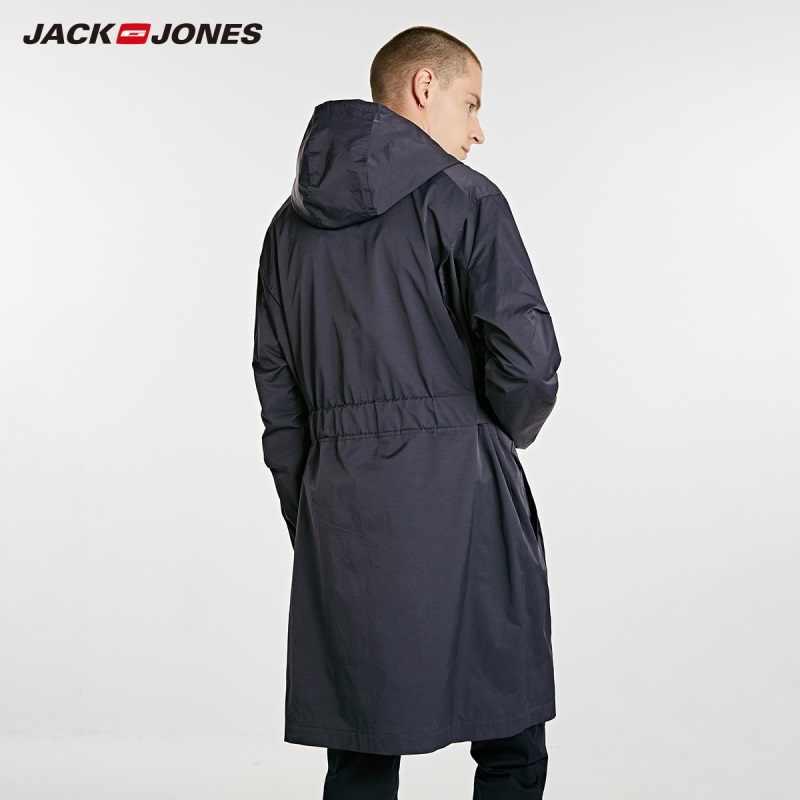 JackJones גברים של אביב סלעית בינוני אורך רוח מעיל E | 218321531