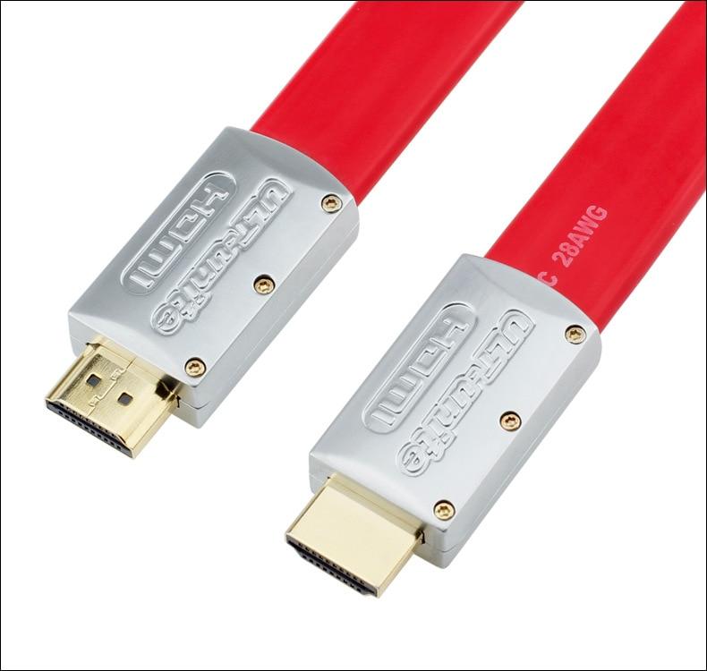 4K HDMI 2.0 Platte kabel Draad Mannelijk naar metalen kop 1m 1.5m 2m - Computer kabels en connectoren - Foto 4