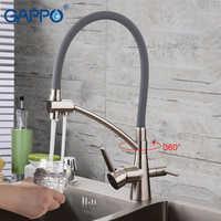 Gappo torneiras de cozinha bronze pia filtro torneira da cozinha misturador água da torneira água potável para cozinha
