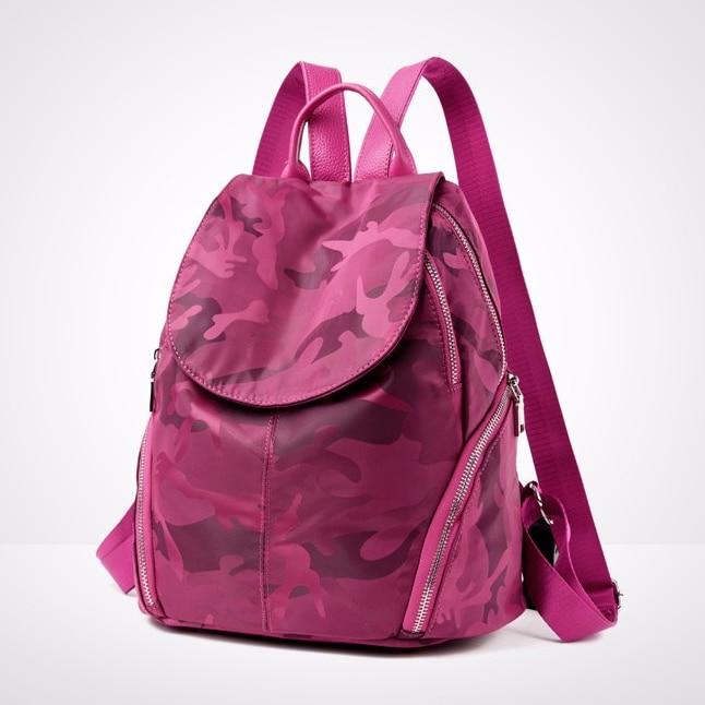 Pink camouflage Women Backpack Quality Nylon Laptop bag Waterproof Travel School Bags women s Rucksack Teenage