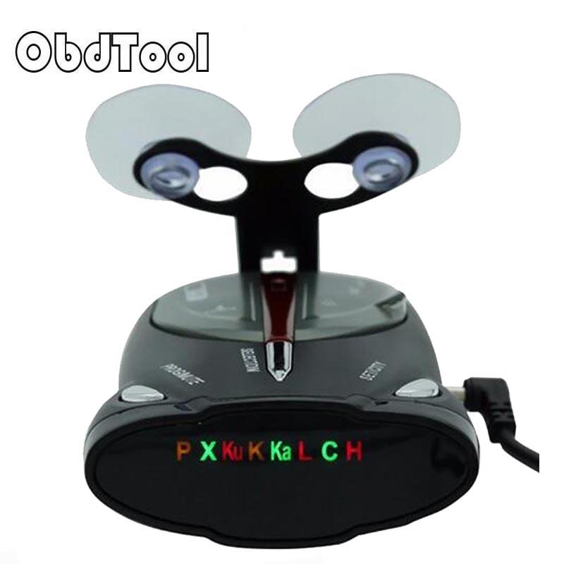 ObdTool Nero Anti Radar Dell'automobile Del Rivelatore Del Radar Laser Radar Detector Voice Sistema di Allarme per Auto Russo Strelka-Detector