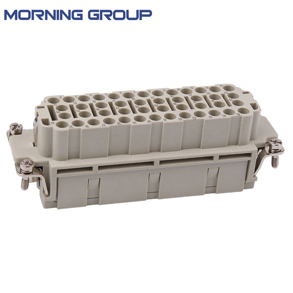 HEE-046 High Quality Industrial Usage Heavy Duty 46 Pins Connector, Male or Female Screw Terminal Used In Injection Mold Machine low noise terminal crimping machine 1 5t with vertical mold or horizontal mold or single grain mold
