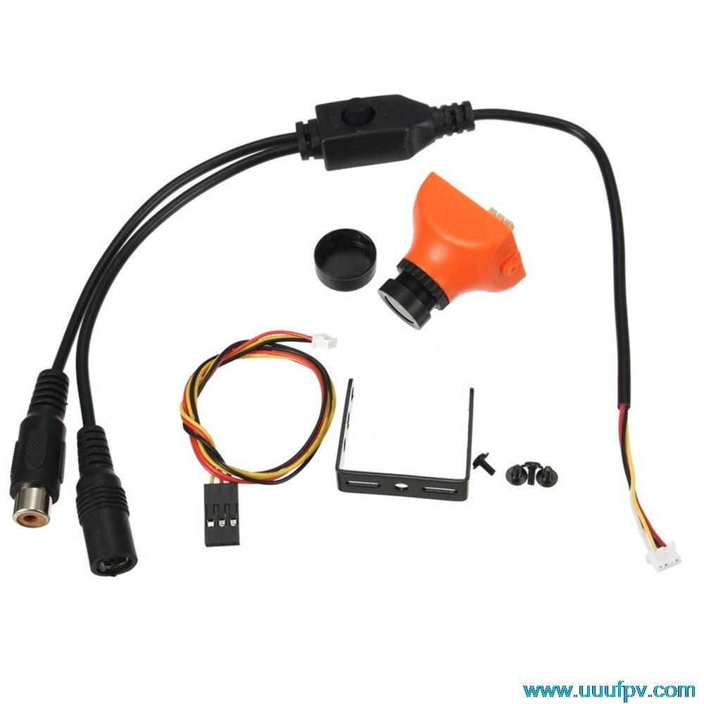 Micro 1/3 CCD 600TVL PAL 2.8 мм Угол обзора 120 градусов FPV-системы мини Камера 25*25 мм для FPV-системы Racer