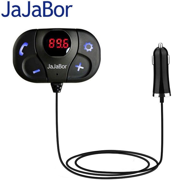 Jajabor автомобильный fm-трансмиттер MP3 аудио плеер <font><b>Bluetooth</b></font>-гарнитуры для авто громкой связи 5 В 2.1A USB Автомобильное Зарядное устройство с цифровой &#8230;