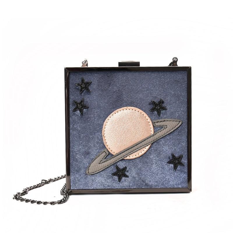 2017 Bag Women Shoulder Bags Crossbody Bags For Women Personality Shaping Handbag Hit Color Box Tin Chain Shoulder Metallic