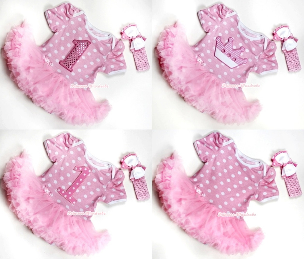 Rainbow Cat Sparkle 1ST Birthday Bodysuit Jumpsuit Hot Pink Baby Dress NB-12M