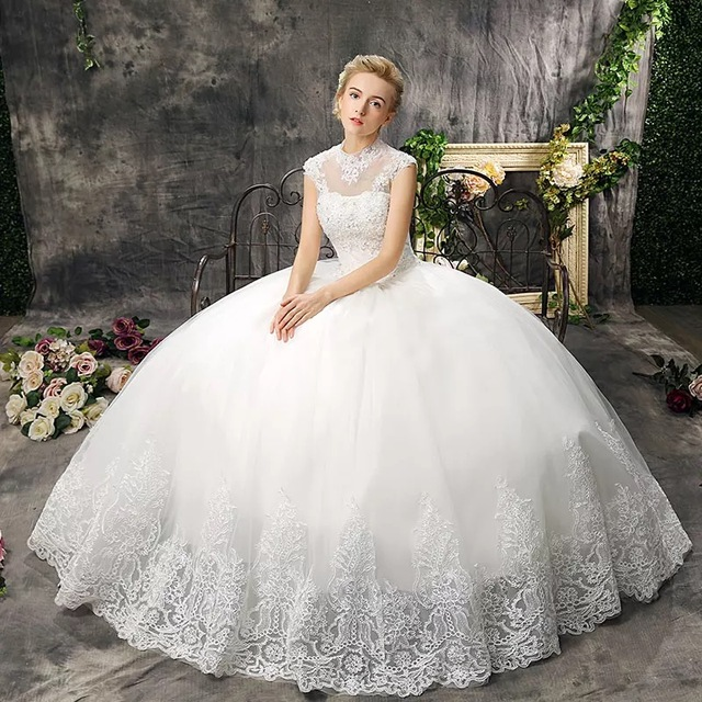 Amanda Novias 2017 New Wedding Dresses Lace Up Princess Backless High Gulity Hot Vestidos