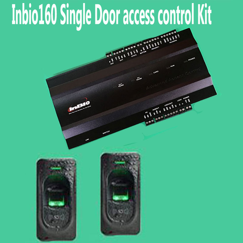 INBIO160 Kit One door Fingerprint Access Control Panel Inbio Access Controller+FR1200 Fingerprint Scanner biometric face and fingerprint access controller tcp ip zk multibio700 facial time attendance and door security control system