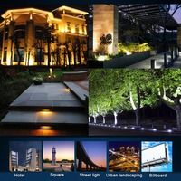 30W/50W/100W LED Flood Light Outdoor Search Lamp LED Luminaire Ultra Thin Spotlight MDJ998