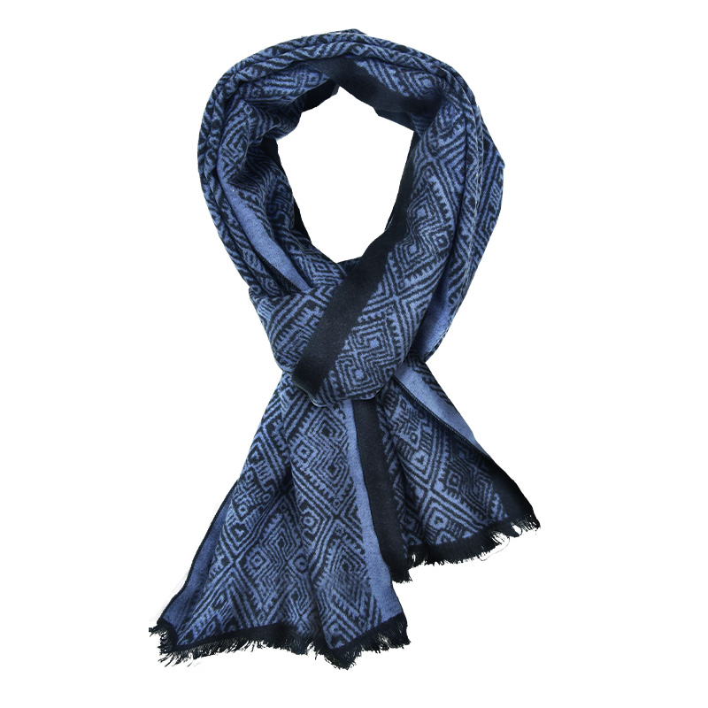 MENOGGA Cashmere Scarf Pure Brushed Silk Scarf Diamond Pattern Thick Warm Winter Shawl Long Scarf Men and Women Unisex(China)