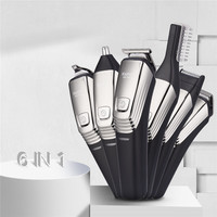 Kemei 6 in 1 Grooming Kit Professional Electric Hair Clipper Shaver Rechargeable Hair Trimmer Cutting Machine for Men 39