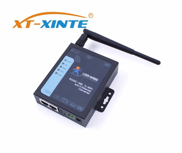 USR W630 อุตสาหกรรม Serial WIFI และ Ethernet Converter รองรับพอร์ต Ethernet 2 พอร์ต,Modbus RTU