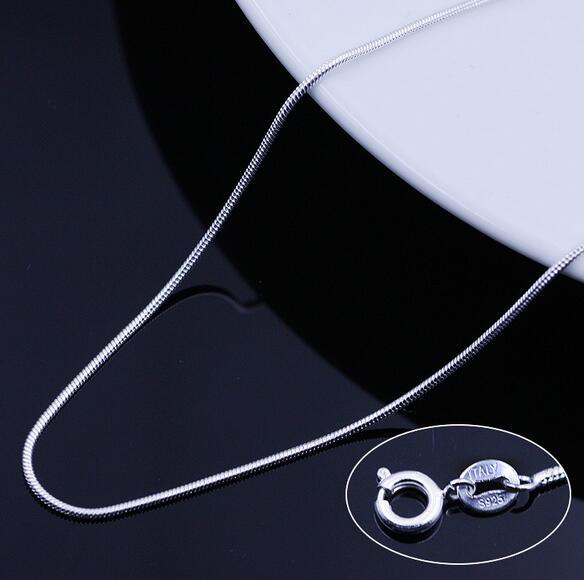 OMHXZJ Topdan Moda Qadın 16 və 18 düym 1.2mm Platinum 925 Sterling - Gözəl zərgərlik - Fotoqrafiya 4