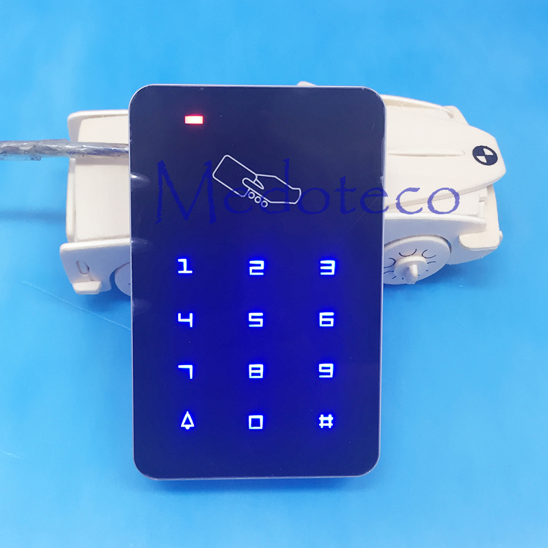 125khz RFID Proximity Card Access Control System RFID/EM Keypad Card Access Control Door Opener touch keypad wiegand 26 input mini 125khz wiegand 26 for door access control rfid card proximity id em reader color black
